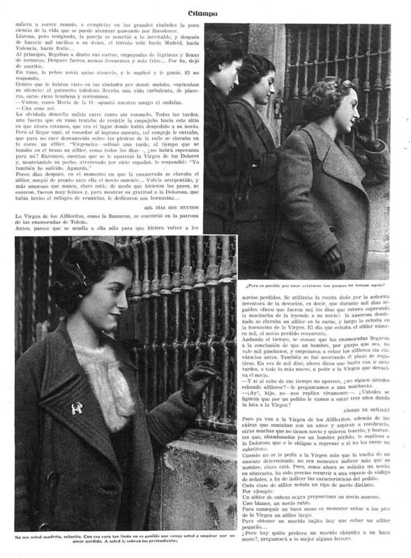 Reportaje sobre la Virgen de Alfileritos. Revista Estampa del 14 de marzo de 1936 (2)