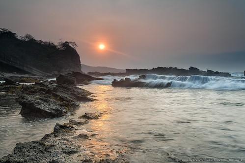 trip seascape west sunrise canon indonesia landscape java photo energy foto sunday wave triana karang nanang franciscus taraje sawarna