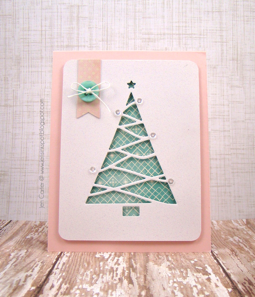 Jen Reverse Cut Triangle Tree woodgrain WM