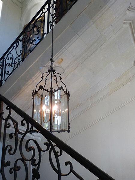 dans l'escalier de Villandry