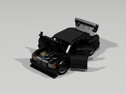 Lego 1990 Mercedes 190E Evo II - All open