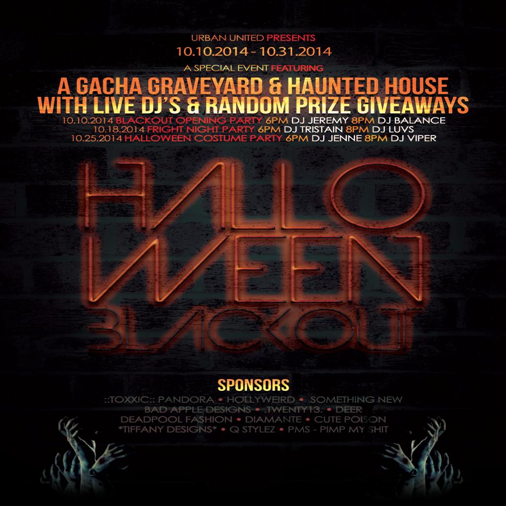 Halloween Blackout Poster