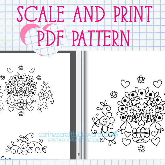 Scale And Print PDF Pattern