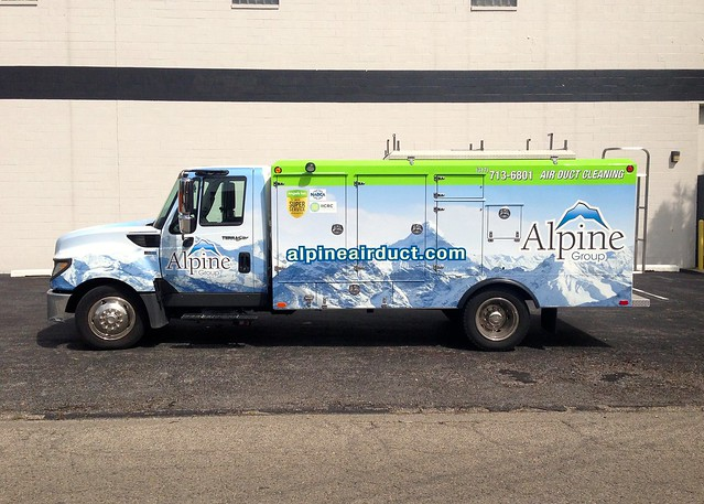 Alpine Group Truck Digitally Printed Vehicle Wrap