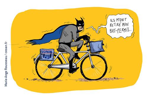 À 75 ans, Batman devient facteur pour l'US Postal Service, par Marie-Ange Rousseau