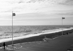 The seafront at Bexhill, bit windy