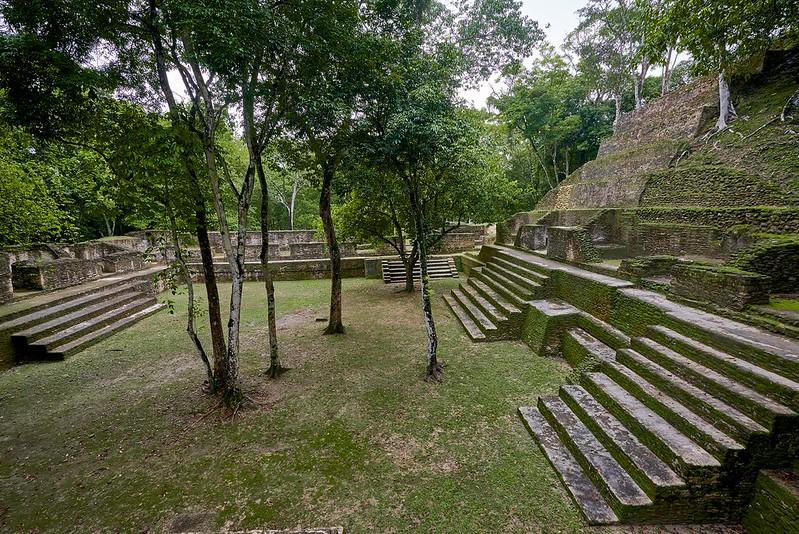 Plaza in Cahel Pech - San Ignacio