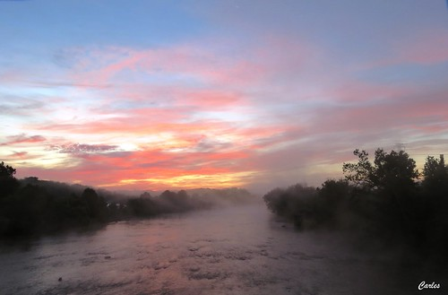 sunset sky sun nature sunrise river landscape virginia outdoor south steam danville danriver