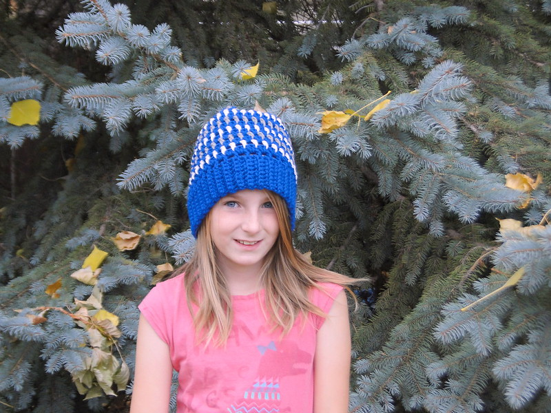 Stripey Slouchy hat