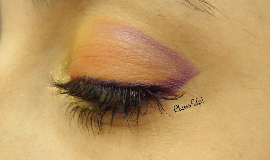 Halloween Makeup Looks: Orange and Purple