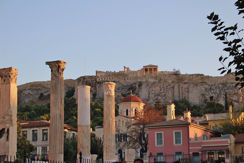 Acropolis on hill