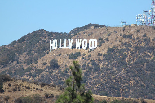 Hollywood Sign from Griffith Park in Los Angeles, California