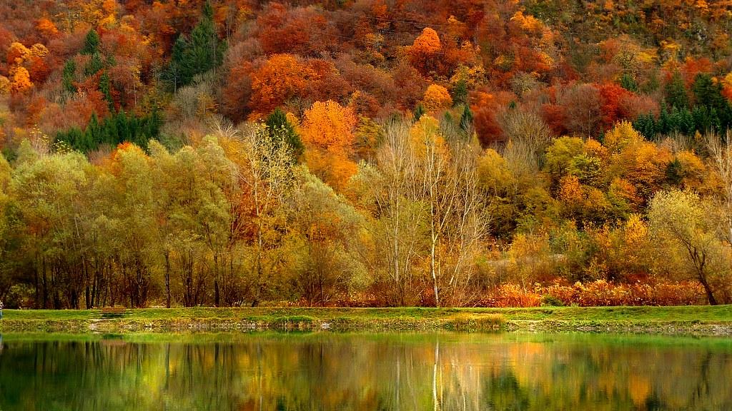Reflets d'automne près d' Annecy