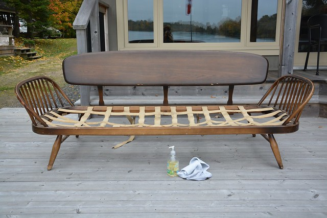 ercol sofa refinishing project