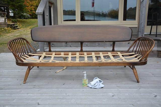 ercol sofa refinishing project
