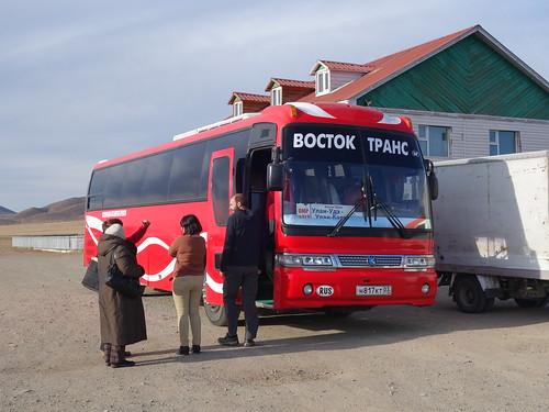 Le bus pour la Mongolie!