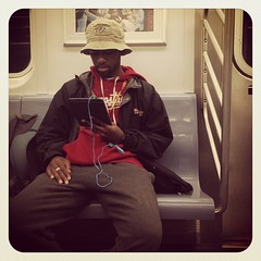 Thursday night 2 train. #nycsubwayportraits #nyc #Brooklyn #train #subway #publictransportation #commute #2train