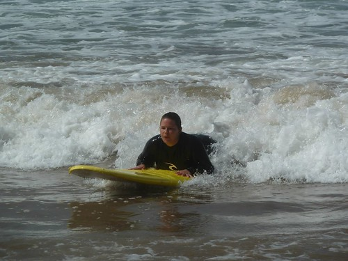 Steph catching wave