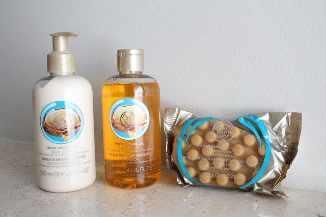 The body shop Wild Argan Oil Massage Soap, Shower Gel and Body Lotion reviews