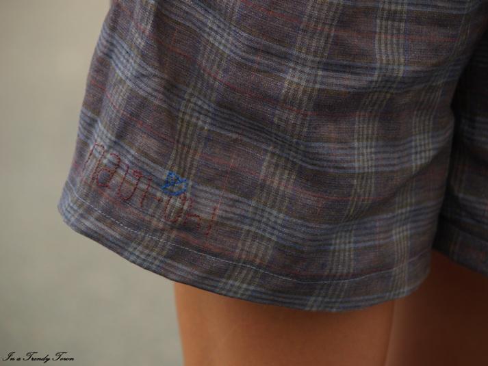 DIY grey shorts