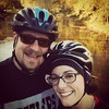 Bike trail selfie! Had an awesome 20 mile ride today with the best wife ever!