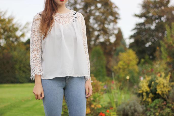 Lace crochet blouse - zara spitzenbluse SS2014 - zara bluse blogger trend