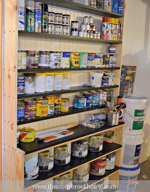 DIY Shelf to Organize Paint