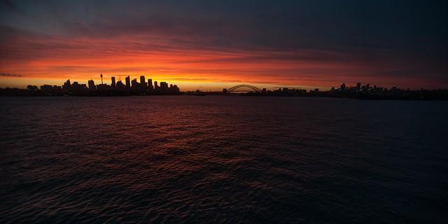 Sydney Harbour Sonnenuntergang