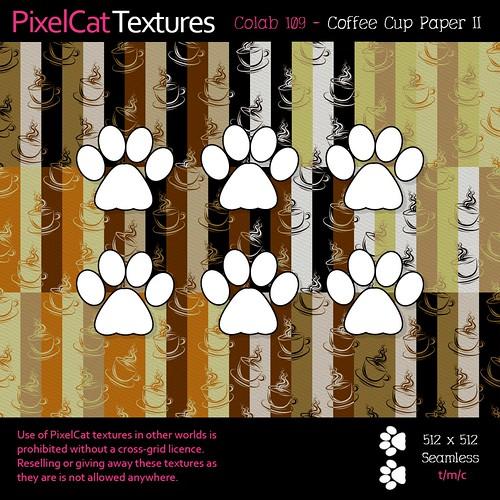 PixelCat Textures - Colab 109 - Coffee Cup Paper II