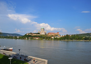 Esztergom basilica over Danube / Hungary