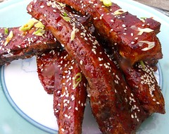 ASIAN STYLE GLAZED PORK RIBS WITH FERMENTED BLACK BEAN SAUCE