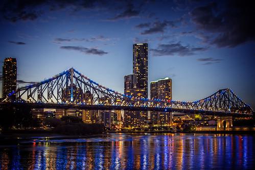 city bridge sunset sky water weather clouds brisbane brisbaneriver waterreflections sunsetsandsunrisesgold cloudsstormssunsetssunrises