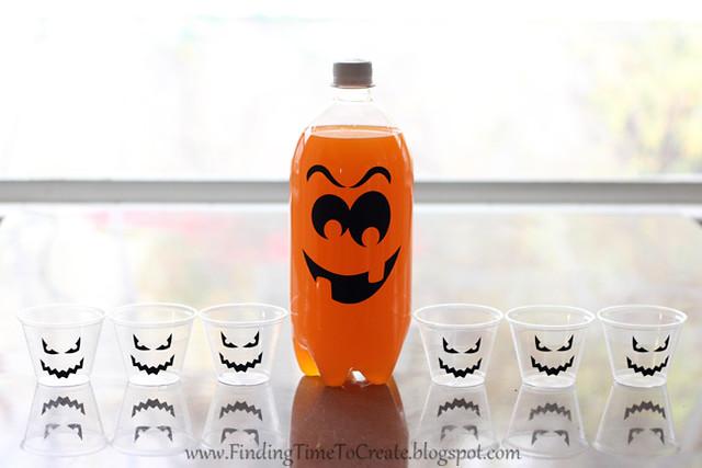 Jack o lantern juice with vinyl