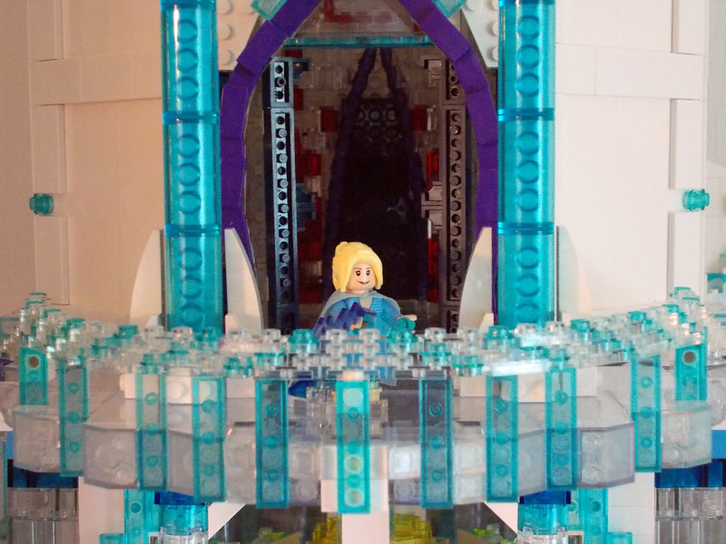lego elsa castle instructions