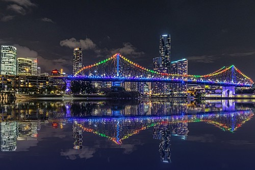 city travel reflection fun reisen nikon cityscape australia brisbane queensland brisbaneriver riverwalk storybridge digitalmanipulation g20 nikond800