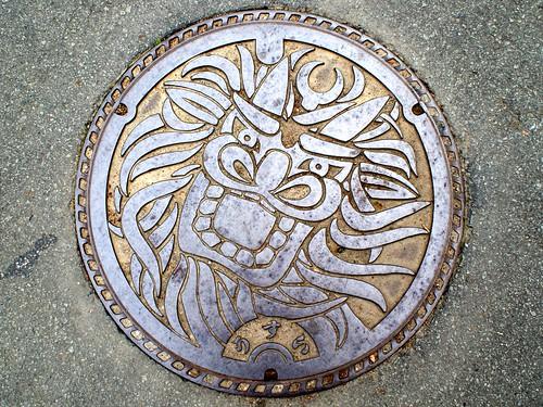 Uwajima Ehime, manhole cover 4 (愛媛県宇和島市のマンホール4)