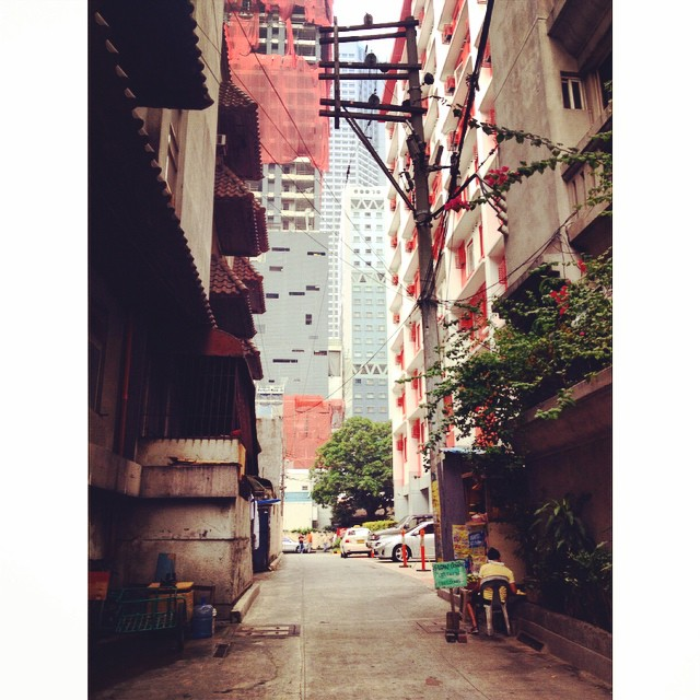 This is where work took me today. Old Hong Kong in Manila. #grittymakati #makatiBTS #journofiles