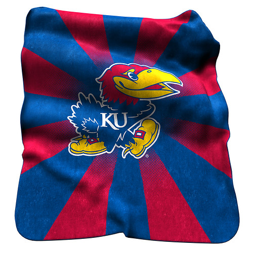 Kansas Jayhawks NCAA Raschel Blanket