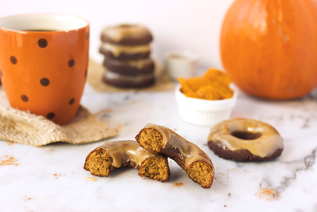Pumpkin Spice Coconut Flour Donuts