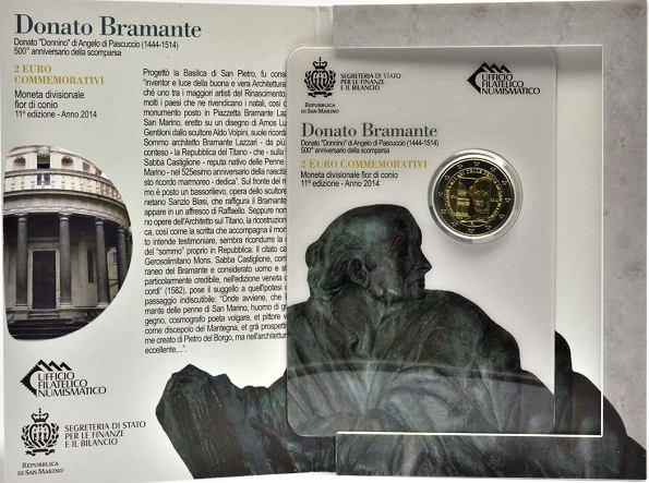 Oficiálne bal. 2 Euro San Marino 2014, Donato Bramante