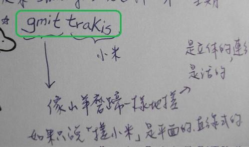阿棟牧師的gmit trakis筆記,圖片來源:孟琬瑜
