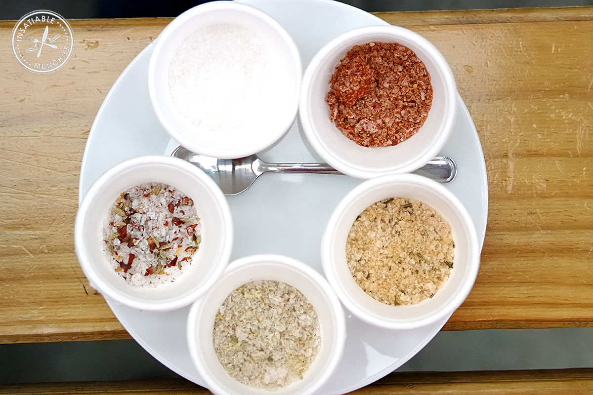 Different flavoured and roasted salts