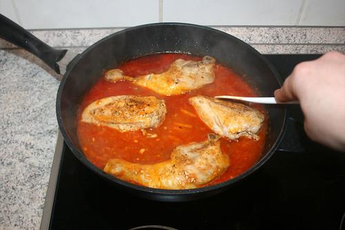 38 - Hähnchenteile zwischendurch wenden / Turn chicken from time to time