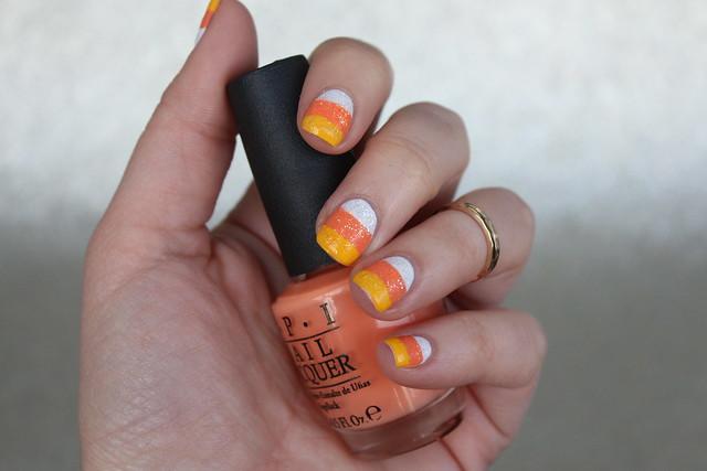 Candy Corn Nails | Halloween Nails | #LivingAfterMidnite