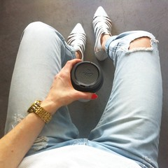 Ootd featuring Cotton On jeans, Boohoo white sandals