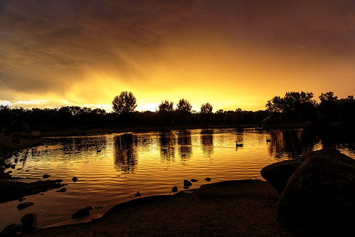 sunset sky lake newmexico water silhouette clouds landscape evening colorful cloudy dusk ducks albuquerque nm tingleybeach grantcondit