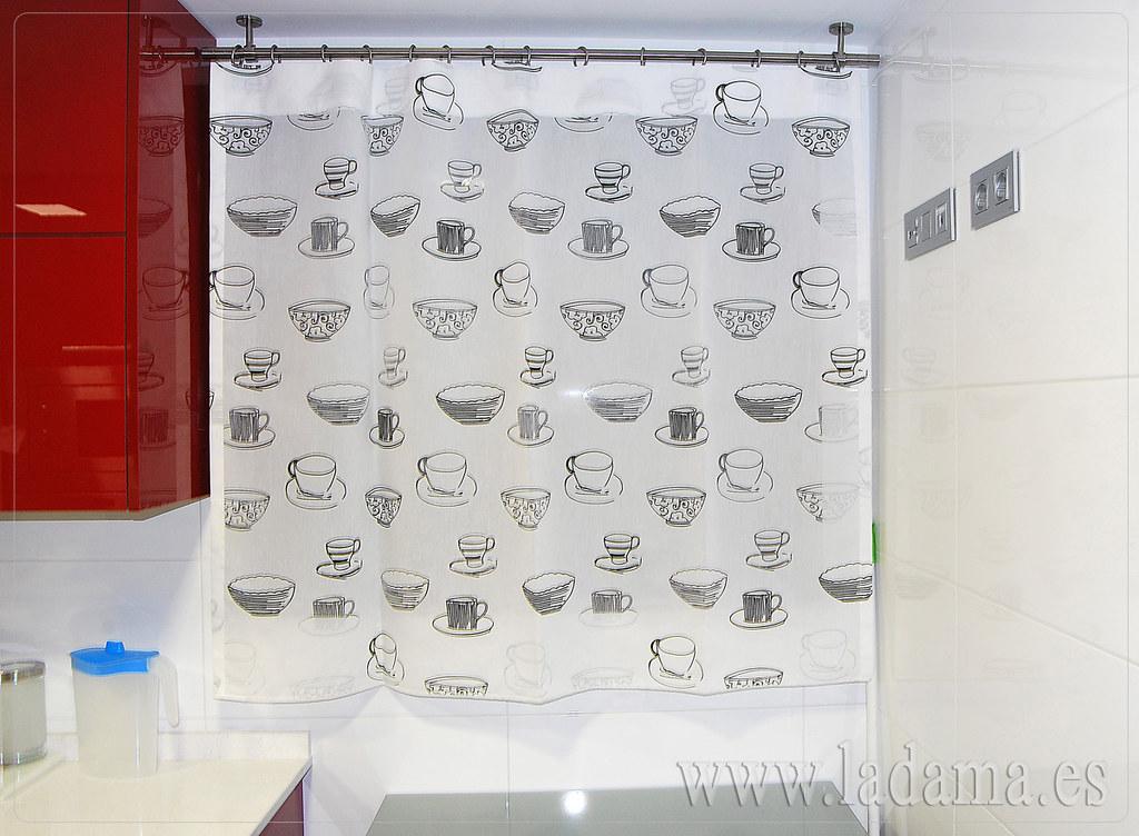 Fotograf as de cortinas de cocina la dama decoraci n - Cortina cocina moderna ...