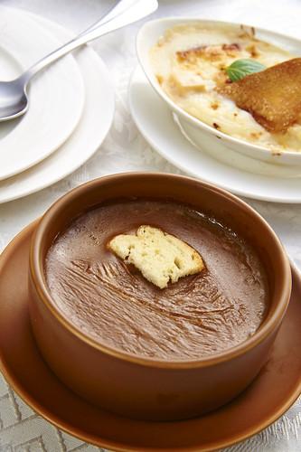 高雄新國際西餐廳正統牛排A餐套餐_附餐-法式洋蔥湯