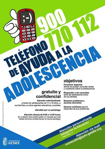 Teléfono ayuda a la Adolescencia