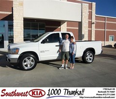 #HappyAnniversary to Michael Toussau on your 2006 #Dodge Truck #Ram 1500 from Paula Lovejoy at Southwest KIA Rockwall!